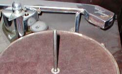 close up turntable