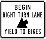 right turn yield bikes