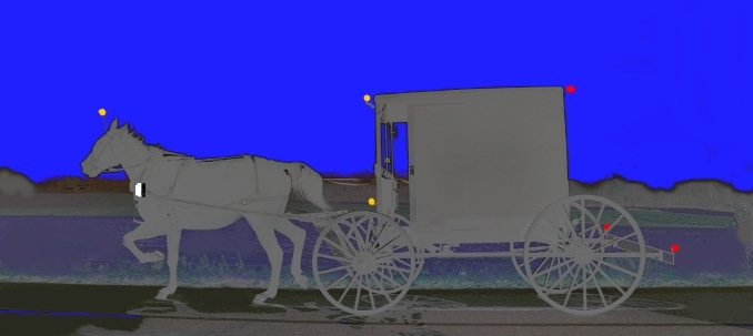 Amish buggy lights